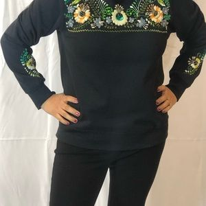 Mexican hand embroidery sweater